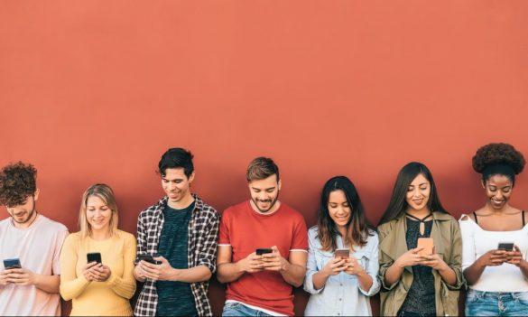 pessoas celular