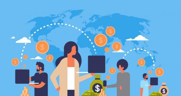 vetor de transferência de dinheiro