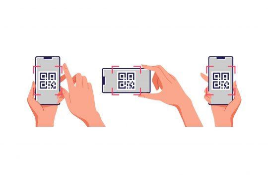 três qr codes em formatos diferentes