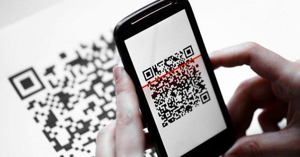 celular com qr code